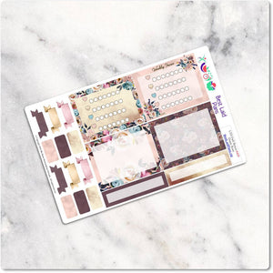 Planner Stickers Leafy Treetops Functional Bohemian Boho Peony Dusty Rose