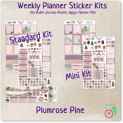 Image of Happy Planner Mini Weekly Kit Plumrose Pine