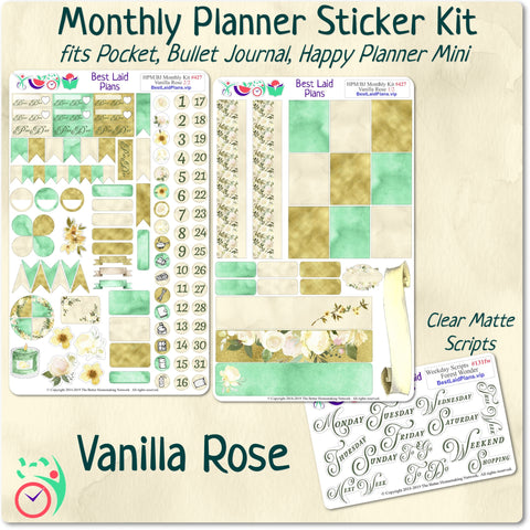 Image of Happy Planner Mini Monthly Kit Vanilla Rose