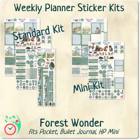 Image of Mini Happy Planner Weekly Kit Forest Wonder