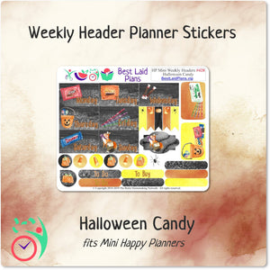 Happy Planner Mini Horizontal Weekly Kit Halloween Candy