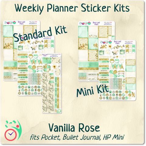 Image of Mini Happy Planner Weekly Kit Vanilla Rose
