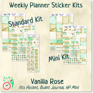 Mini Happy Planner Weekly Kit Vanilla Rose