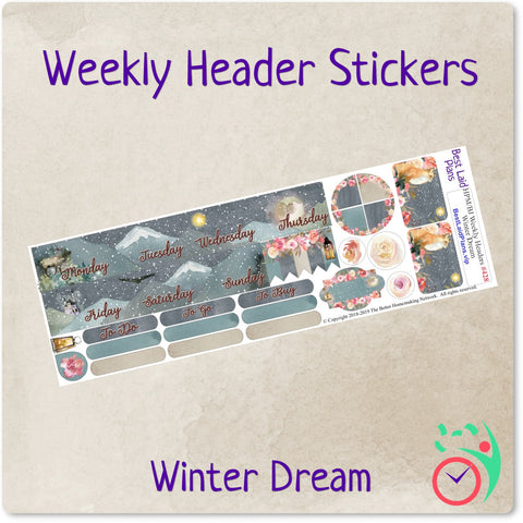 Image of Happy Planner Mini Weekly Headers Winter Dream