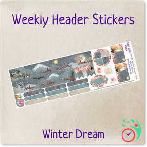 Happy Planner Mini Weekly Headers Winter Dream