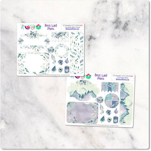 Planner Stickers Leafy Treetops Weekly Sampler Lavender Blue