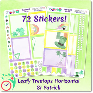 Leafy Treetops Wide Horizontal Weekly Kit St Patrick