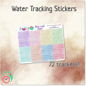 Watercolor Pastel Water Drop Trackers