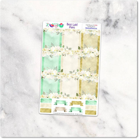 Image of Planner Stickers Full Boxes Green Floral Animals