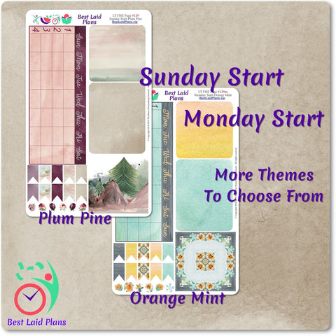 Image of Calendar Page Orange Mint