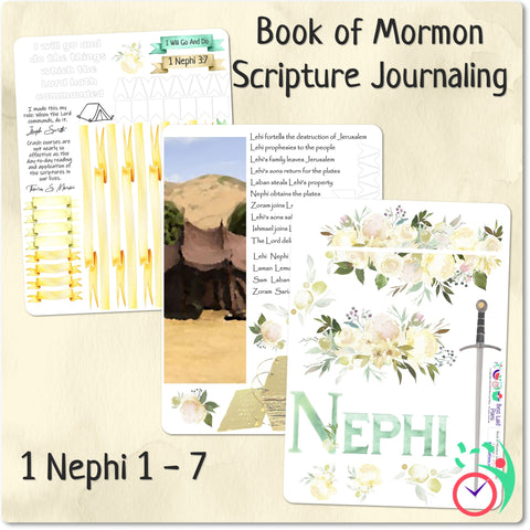 Image of Come Follow Me Book of Mormon Scripture Journaling Stickers Week 4 1 Nephi 11 - 15
