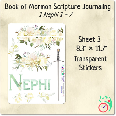 Image of Come Follow Me Book of Mormon Scripture Journaling Stickers Week 2 1 Nephi 1 - 7