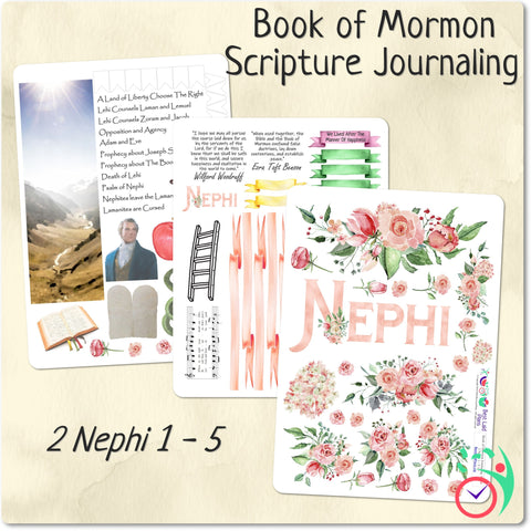 Image of Come Follow Me Book of Mormon Scripture Journaling Stickers Week 6 2 Nephi 1 - 5