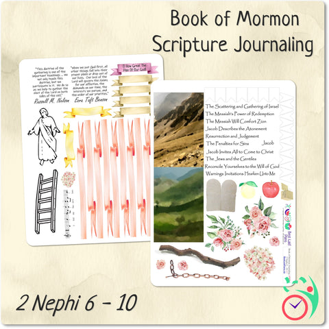 Image of Come Follow Me Book of Mormon Scripture Journaling Stickers Week 7 2 Nephi 6 - 10