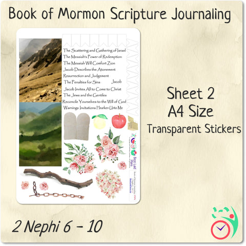Come Follow Me Book of Mormon Scripture Journaling Stickers Week 7 2 Nephi 6 - 10