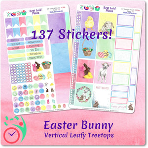 Leafy Treetops Vertical Weekly Kit Easter Bunny