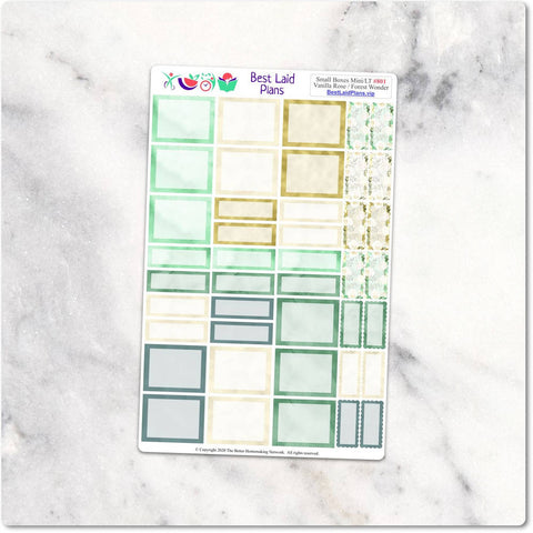 Image of Happy Planner Stickers Mini Bujo TN Functional Boxes