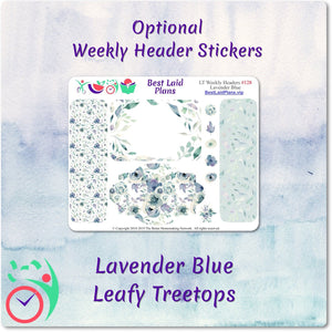 Leafy Treetops Horizontal Weekly Kit Lavender Blue
