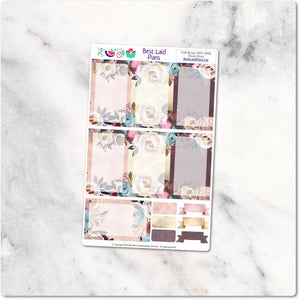 Full Boxes Kit Happy Planner Vertical Boho Peony Dusty Rose
