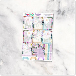 Happy Planner Stickers Full Boxes Bohemian Boho Peony Dusty Rose