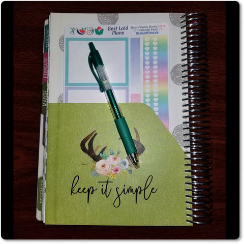 Image of Erin Condren and Happy Planner Weekly Header Boxes Vanilla Rose