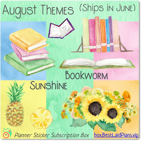 Image of Functional Planner Sticker Superpak - Sunshine / Bookworm