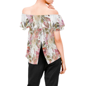 Winter Dream Floral Chiffon Blouse