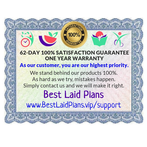 Best Laid Plans Satisfaction Guarantee