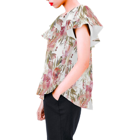 Image of Winter Dream Floral Chiffon Blouse