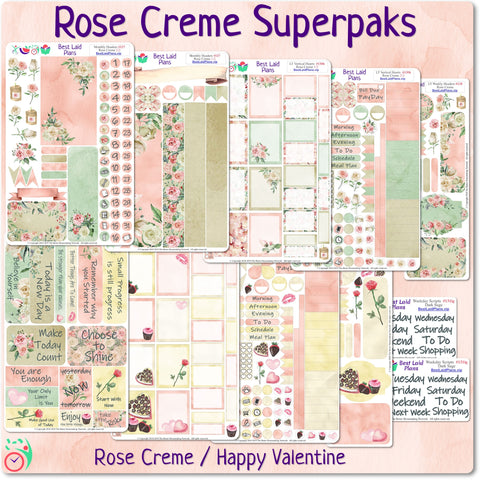 Image of Functional Planner Sticker Superpak - Rose Creme / Happy Valentine
