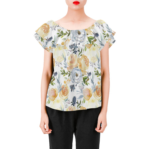 Sunday Morning Floral Chiffon Blouse