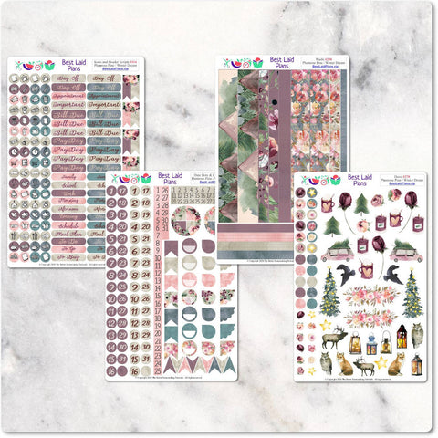 Functional Planner Stickers Icons Date Covers Script Headers Washi