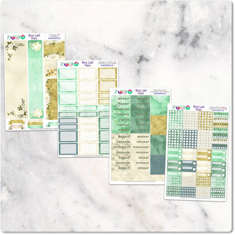 Image of Planner Stickers Standard A5 EC Green Floral