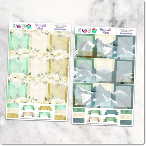 Planner Stickers Full Boxes Green Floral Animals