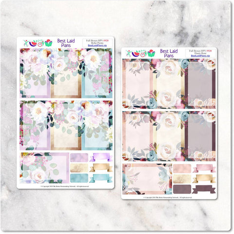 Image of Full Boxes Kit Happy Planner Vertical Boho Peony Dusty Rose