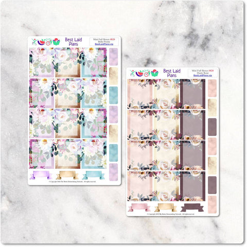 Image of Planner Stickers Mini Happy Planner TN BJ Functional Bohemian Boho Peony Dusty Rose