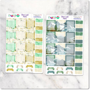 Planner Stickers Boxes Floral Green TN