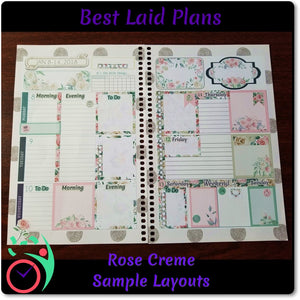 Leafy Treetops Horizontal Weekly Kit Vanilla Rose