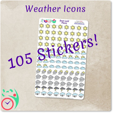 Weather Stickers Doodle Icons