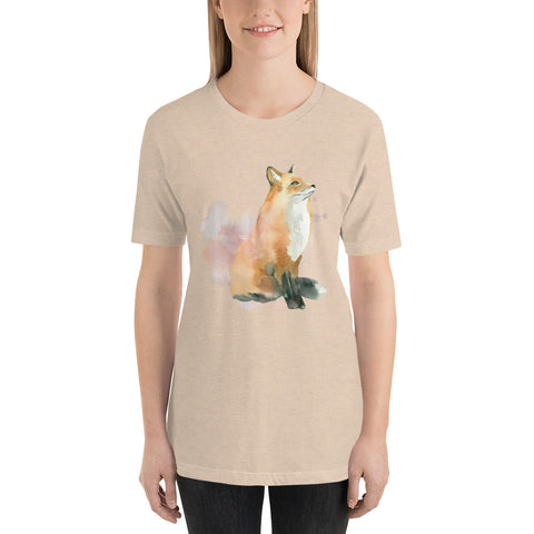Image of Winter Dream Fox Cotton Shirt