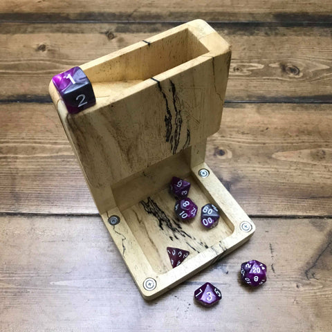 Spalted Tamarind Dice Tower