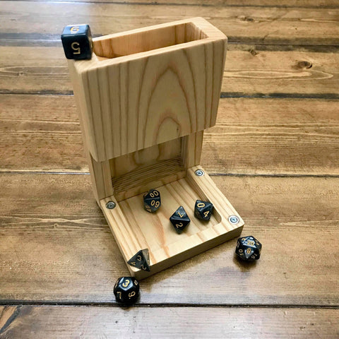 White Ash Wood Dice Tower