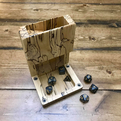Spalted Maple Dice Tower