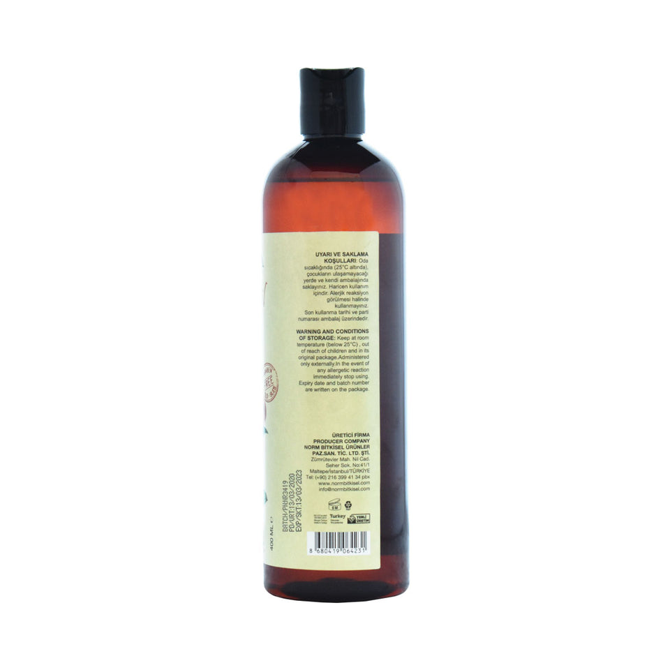Rear View of Argan Oil Shampoo for Dry Hair by Lacinia Cosmetics
