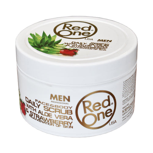 Strawberry and Aloe Vera: Face and Body Scrub for Men
