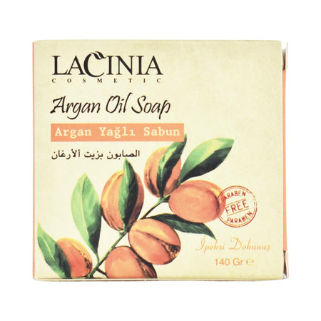 Side View of Argan Soap by Lacinia Cosmetics