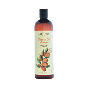 Front view of argan oil Shampoo for dry hair and split ends by Lacinia