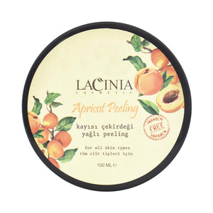 Up view of apricot peeling cream by lacinia