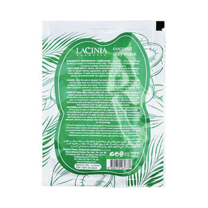 Rear view of Coconut oil clay face mask by lacinia
