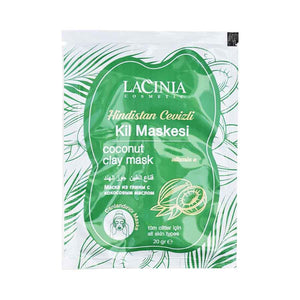 Front view of Coconut oil clay face mask by lacinia